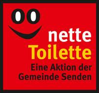 """Das Logo """"Nette Toilette"""" - eine Aktion der Gemeinde Senden"""
